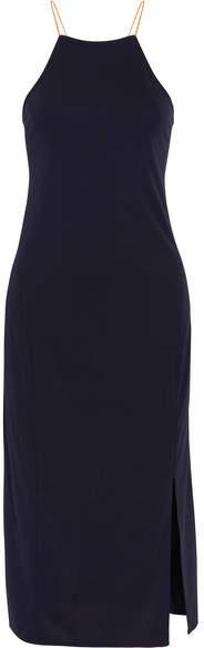 DKNY Lace-up Cady Dress - Midnight blue