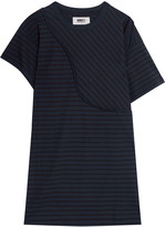 MM6 MAISON MARGIELA Striped cotton-jersey mini dress