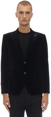 Tagliatore Stretch Velvet Single Breasted Jacket