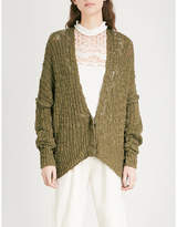 Free People Fun Times knitted cotton-blend cardigan