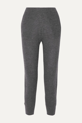 Skin Marlowe Waffle-knit Wool-blend Track Pants - Charcoal