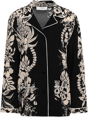 Valentino Floral-print Wool-crepe Shirt