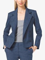 Michael Kors Linen And Cotton Blazer