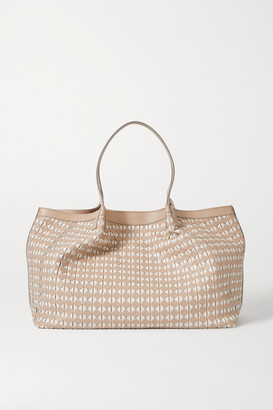 SERAPIAN Secret Medium Woven Leather Tote - White