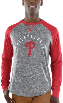 Majestic Men's Gray/Red Philadelphia Phillies Special Move Long Sleeve T-Shirt