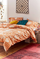 Urban Outfitters Shelby Woodblock Floral Duvet Set