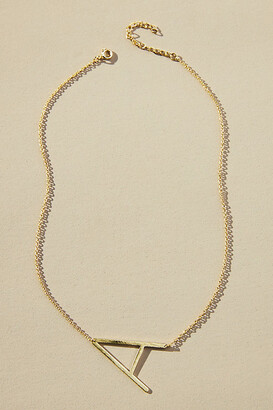 Anthropologie Block Letter Monogram Necklace By in Alphabet Size 1