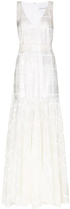 Halpern Sequinned Maxi Gown