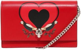 Alexander McQueen Skull Heart Clutch Bag