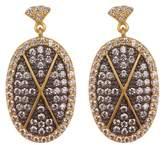 Freida Rothman Contemporary Deco Pave CZ Drop Earrings