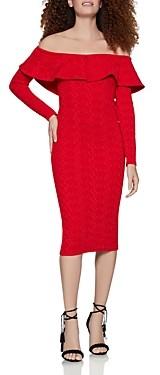 BCBGeneration Off-the-Shoulder Jacquard Dress