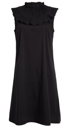 Halogen Sleeveless Ruffle Yoke Shift Dress