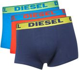 Diesel 3 Pack Of Contrast Waistband Trunks
