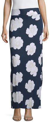 A.N.A Womens Elastic Waist Maxi Skirt