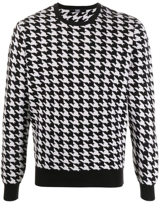 Karl Lagerfeld Paris Houndstooth Knitted Jumper