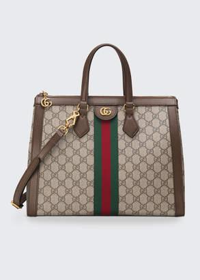 Gucci Ophidia Medium GG Supreme Canvas Web Top-Handle Tote Bag