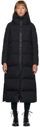 Herno Black Down Windstopper Maxi Coat