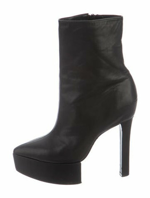 Theyskens' Theory Leather Boots Black