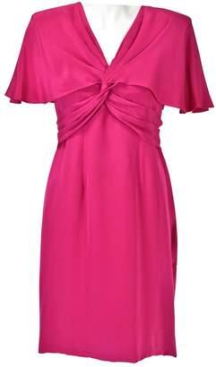 Hanae Mori Pink Silk Dress for Women Vintage