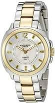 Akribos XXIV Women's AK668TTG Swiss Quartz Two-Tone Stainless Steel Watch