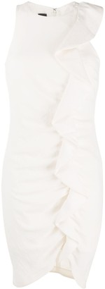 Pinko Ruffle-Trimmed Mini Dress