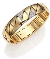 Roberto Coin Appassionata Diamond & 18K Yellow Gold Bangle Bracelet
