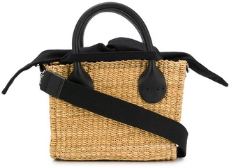 Muun Charlies straw tote bag