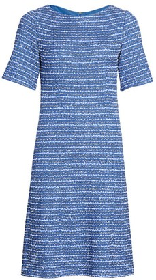 St. John Ribbon Tweed Knit A-Line Dress