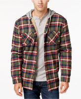 Weatherproof Vintage Men's Big and Tall Hooded Plaid Shirt Jacket, Classic Fit
