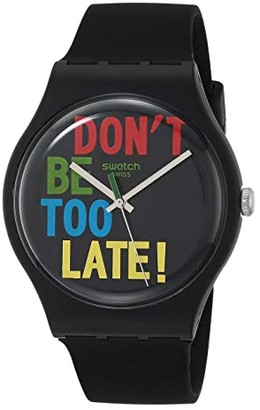 Swatch Timefortime - SO29B100 (Black) Watches