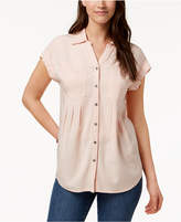 Style&Co. Style & Co Petite Pleated Blouse, Created for Macy's