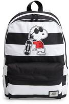 Vans Boy's X Peanuts Realm - Joe Cool Snoopy Backpack - Black
