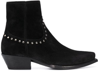 Saint Laurent Lukas studded ankle boots