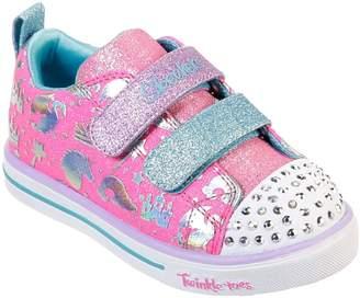 Skechers Toddler Girls Sparkle Light Plimsolls -Pink