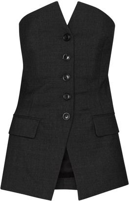 Our Legacy Blazer-Style Tailored Bustier Top