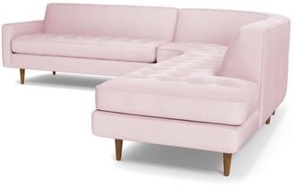 Apt2B Monroe 3pc Velvet Sectional Sofa