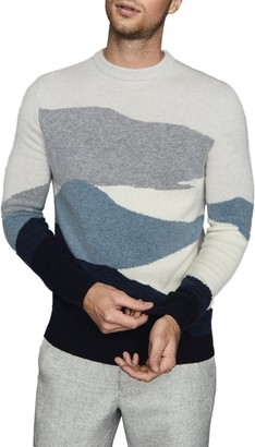 Reiss Turner Colorblock Crewneck Sweater