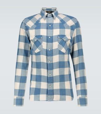 Ralph Lauren RRL Cotton-linen checked flannel shirt