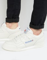 Reebok Workout Plus Vintage Trainers In White Bd3386
