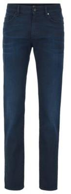 HUGO BOSS Slim-fit jeans in dark-blue stretch denim