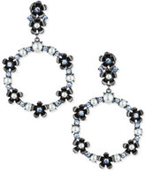 Kate Spade Floral Crystal Open-Drop Earrings, Blue/Multi
