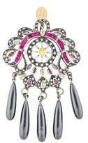 Mawi Faux Pearl Drop & Crystal Pendant