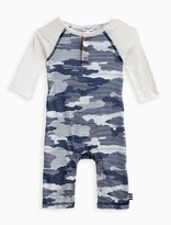Splendid Baby Boy Long Sleeve Romper with Camo Print