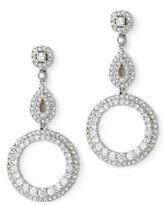 double-circle crystal earrings