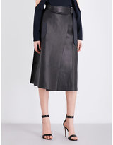 Dion Lee A-line high-rise leather skirt