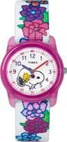 Timex Girls TW2R41700 Time Machines x Peanuts: Snoopy & Flowers Elastic Fabric Strap Watch