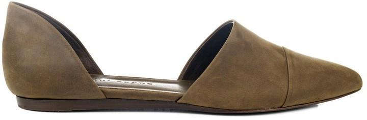 Jenni Kayne Olive Oiled Leather D'Orsay Flat