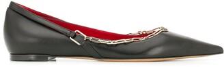 Valentino Chain Detail Ballerina Shoes