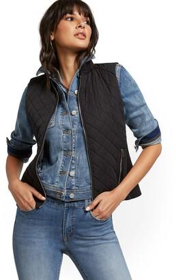 New York & Co. Zip-Front Quilted Vest