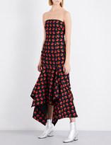 SOLACE London Veronique strapless crepe dress
